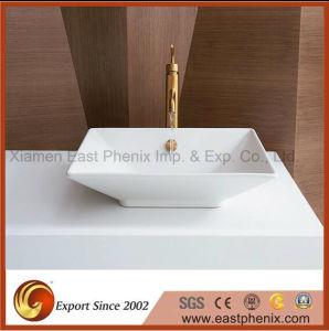 High Quality Absolute White Quartz Vanity Top for Bathroom pictures & photos