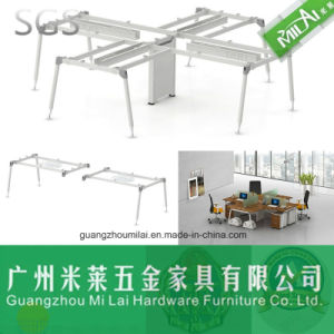 Metal Frame Cross Shape Office Desk for 4 Person pictures & photos