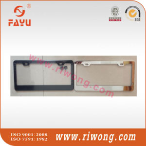 Polished Stainless Steel License Plate Frame with 2 Holes Anti-Theft Security Screw Covers pictures & photos