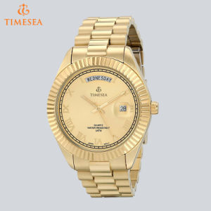 All Gold-Plated Day Date Stainless Steel Watch Luxury Men′s Watch72667 pictures & photos