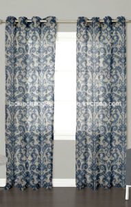 Printed Faux Linen Sheer Grommet Panel pictures & photos