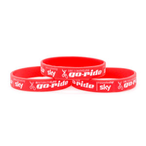 Fashion Printed Silicon Wristband for Club pictures & photos