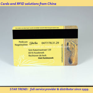 Four Colors Plastic Magnetic Stripe Card as Discount Card pictures & photos