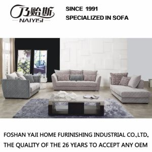 Modern Sectional Printing Fabric Sofa with Armrest Fb1115 pictures & photos