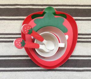 BPA Free Eco Bamboo Fiber Kitchenware Kids Dinnerware Set (YK-KS0091) pictures & photos