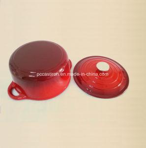 5.5L 3.5L 2.8L Enamel Cast Iron Casserole with Ss Knob pictures & photos