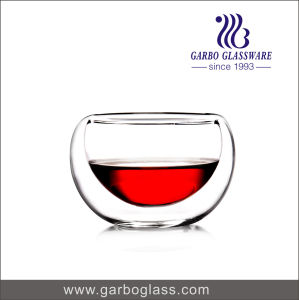 5oz Round Shape Double Wall Glass Tumbler for Hot Soup Drinking with High Quality for Home Using (GB500100150) pictures & photos