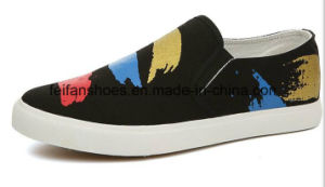 Hot Sale Men Vulcanized Canvas Shoes Slip-on Casual Shoes (FF1026-03) pictures & photos