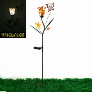 Fantastic Decoration Metal Butterfly Solarlighted Garden Stake Craft