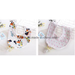 Wholesale Organic Cotton Triangle Baby Bandana Drool Bibs with Baby Pacifier pictures & photos