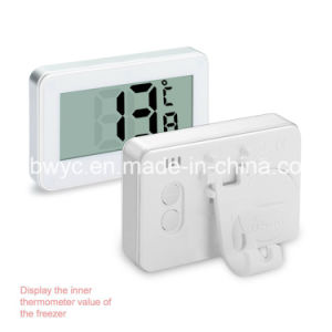 Digital Refrigerator Freezer Room Thermometer with Frost Alert and Magnetic Hook Large LCD Display Waterproof for Home Restaurants Bars Cafes (White) pictures & photos