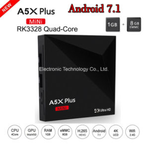 New A5X Plus Mini Rockchip Rk3328 Quad Core Android 7.1 TV Box 1GB/8GB Set Top Box pictures & photos