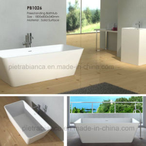 Corian Solid Surface Freestanding Bathtub (PB1026) pictures & photos