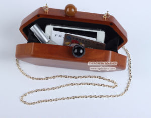 Vintage Style Women Hard Case Purse Wooden Hand Bags Box Clutch Evening Bag for Girls Eb865 pictures & photos