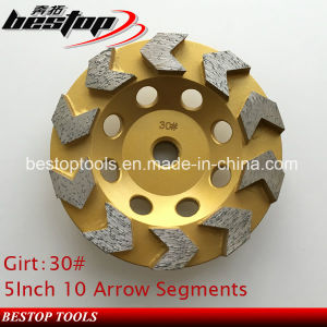 5inch 30# Diamond Grinding Cup Wheel for Concrete Floor pictures & photos