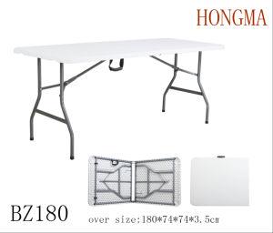 6FT Folding in Half Table Bz180 Plastic Garden Outdoor