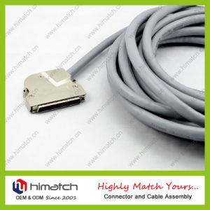 68pin dB Type Cable Connector 75angle SCSI Male Connector pictures & photos