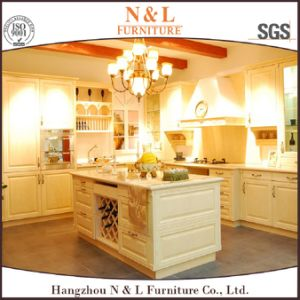 Custom Modern Style Wooden Furniture Solid Wood Kitchen Cabinet pictures & photos