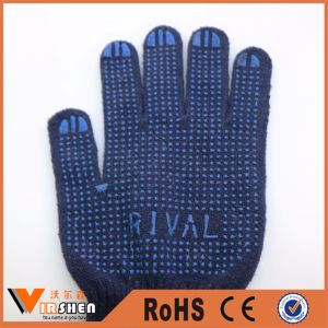 Disposable PVC Dotted Cotton Gloves pictures & photos
