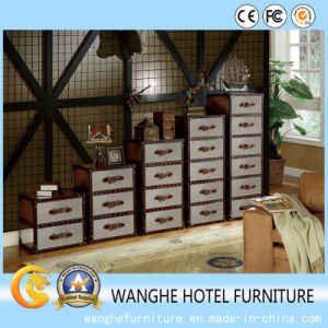 Hot Sale Hotel Living Room Combine-Unit Leather Luxury Cabinets pictures & photos