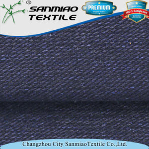 Soft Yarn Dyed Indigo 30s Knitting Denim Twill Knitted Denim Fabric for Jeans pictures & photos