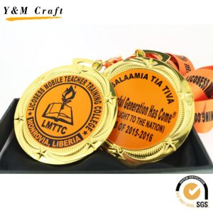 Gold Coating Zinc Alloy Customized Metal Medal Q09731 pictures & photos