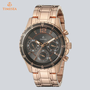 Women′s Classic Rose Gold-Tone Watch with Grey Multi-Function Dial 71236 pictures & photos