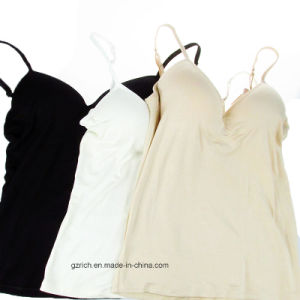 Modal Adjustable Strap Built in Bra Padded Self Mold Bra Tank Tops pictures & photos