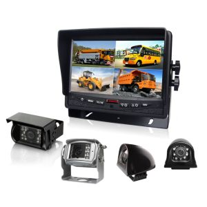 DC12V-24V 7inch Quad Rear View Car LCD Monitor 4CH AV for Truck, School Bus pictures & photos