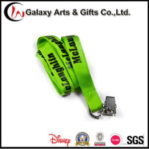 Factory Directly Silk Screen Printing Logo Nylon Lanyard with Clip pictures & photos