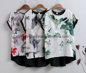 Chinese Style Women`S Printed Shirt pictures & photos