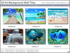 3D Art Background Wall Glazed Tiles (VPA6A101) pictures & photos