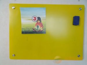 Color Silkscreen Printing Tempered Whiteboard Glass with Ce ANSI Certificate pictures & photos