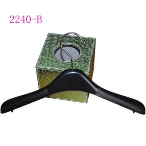 Plastic Black Durable Hanger for Female Clothes pictures & photos