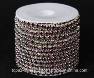 3mm Roll Rhinestone Cup Chain for Shoe Ornament (TCS- 3mm amethyst) pictures & photos