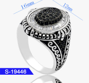 New Design Handmade 925 Sterling Silver Fashion Cubic Zirconia Jewelry Islamic Men Rings Wholesale pictures & photos