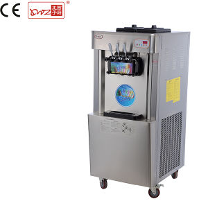 Commercial Hot Sale High Quality Stainless Steel Floorstanding 3 Flavors Soft Ice Cream and Yogurt Machine with Ce pictures & photos