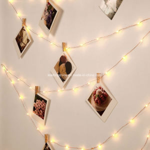Micro LED String Lights Battery Powered Multi Color Mini String Light Ultra Thin Silver Wire Rope Lights for Trees Wedding Party pictures & photos