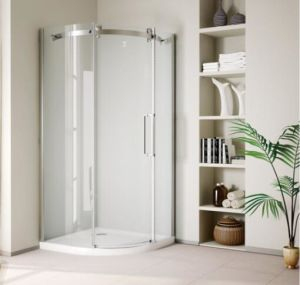 Bathroom 8mm Big Roller One Door Quadrant Shower Enclosure (BN-BRSQD80) pictures & photos