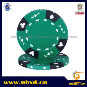 14G 3color Clay Ace-King Suited Poker Chip (SY-E07-1) pictures & photos
