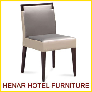 Hotel Furniture Wooden PU Leather Dining Room Chair for Restaurant pictures & photos
