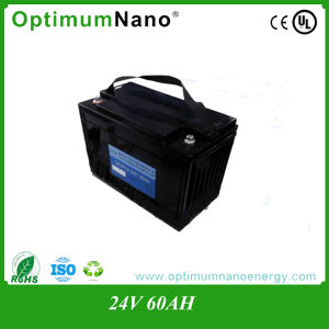 24V Litium-Ion Batterie 24V 60ah LiFePO4 Battery with Various Cases pictures & photos