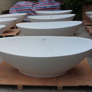 Kkr Resin Stone Round Bathtub Free Standing Oval Bath Tub pictures & photos