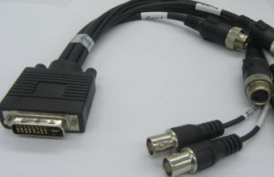 DVI Male to 6 TV Monitor Cable Custom Length Custom Color pictures & photos
