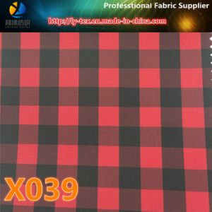 Yarn Dyed Fabric in Promt Goods, Polyester Check Fabric (X038-40) pictures & photos