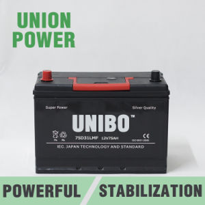 JIS Standard 75D31L Mf 12V75ah High Performance Car Battery pictures & photos