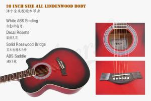Aiersi Brand 38 Inch Color Acoustic Guitar for Sale pictures & photos