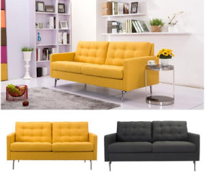 Modern Living Room Hotel Furniture Three Seater Fabric Sofa (HC044) pictures & photos