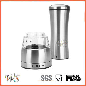 Ws-Pg019 Durable Adjustable Electric Stainless Steel Pepper Grinder, Manual Salt and Pepper Mill pictures & photos