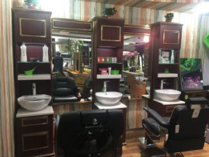 2017 Hot Sell Solid Wood Portable Salon Mirror Station pictures & photos
